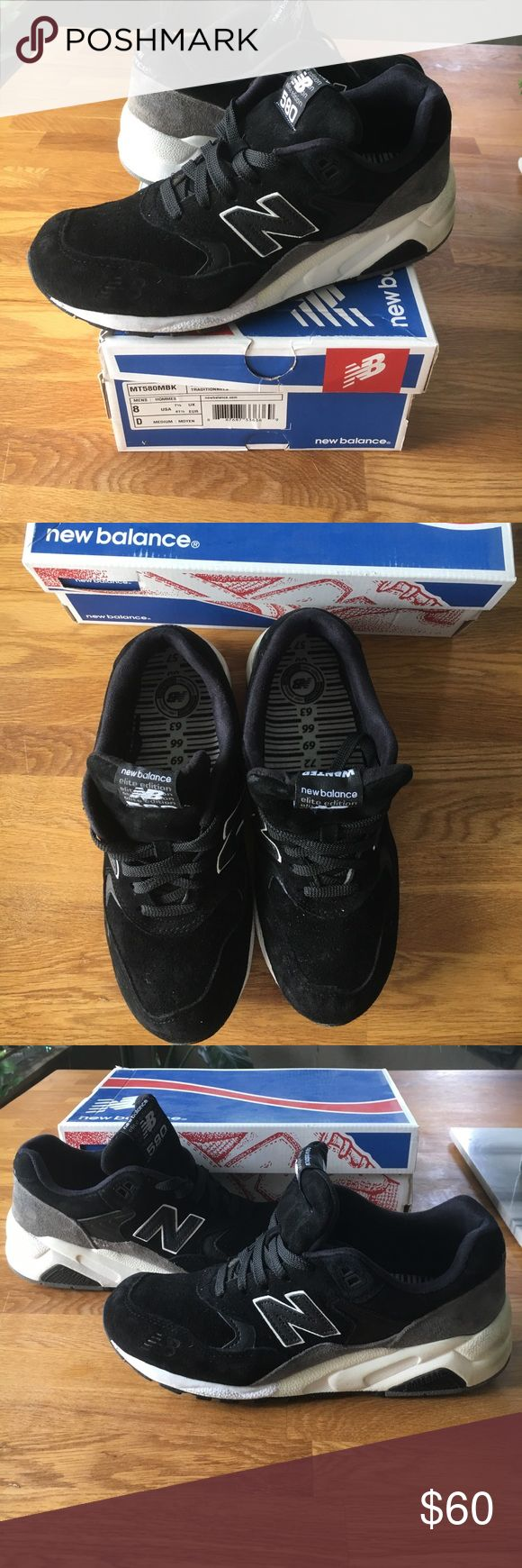 New Balance New Balance elite edition 850. Classic traditionnels, black/grey suede with roll bar sole. Light scuffing on heel of soles from wearing. Great condition and very comfortable shoe New Balance Shoes Sneakers