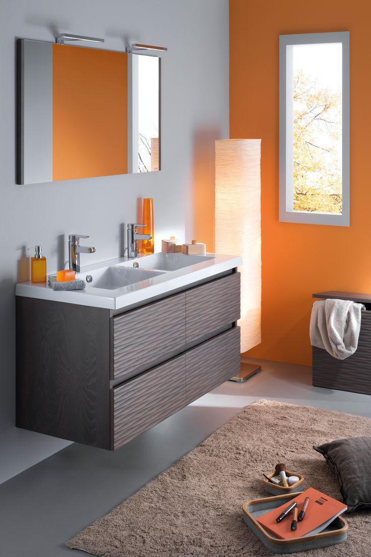 #marron #brown #salledebain #bathroom #meublelignum #Sanijura #meubles #meublessalledebain