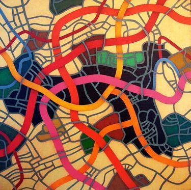 """Saatchi Online Artist Luciano  de Liberato; Painting, """"MAP (2006)"""" #art"""