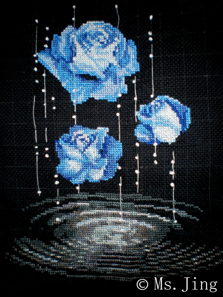 This is a finished cross stitched design for sale. unframed. Size 36x 44 cm