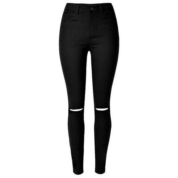 Yoins Yoins Skinny Jeans ($25) ❤ liked on Polyvore featuring jeans, pants, bottoms, black, calças, coffee, skinny fit jeans, black denim skinny jeans, denim jeans and high rise jeans