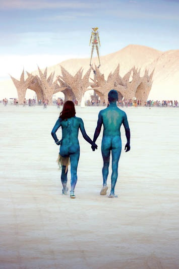 Blue People @ Burning Man.  Have your own original Burning Man photos? Inspire the journey at trover.com! We're travel photo junkies.
