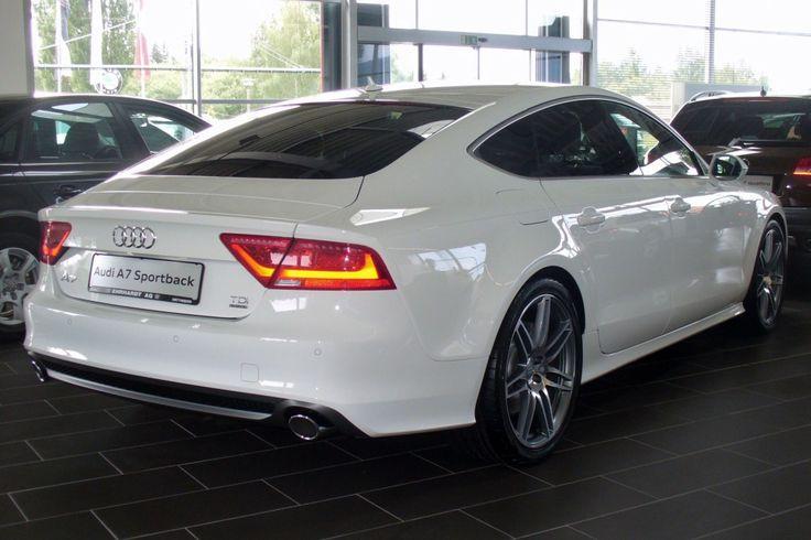 White Audi A7 Sportback