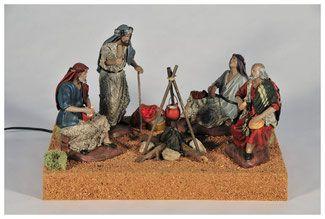 Figuras de Belén con Movimiento, figuras para Belenes en Barro y pintadas a mano. Terracotas de la máxima calidad para su Belén.