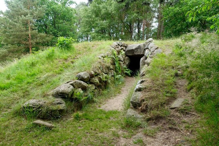 Walking down the road of the megalithic culture in Lower Saxony, Germany.