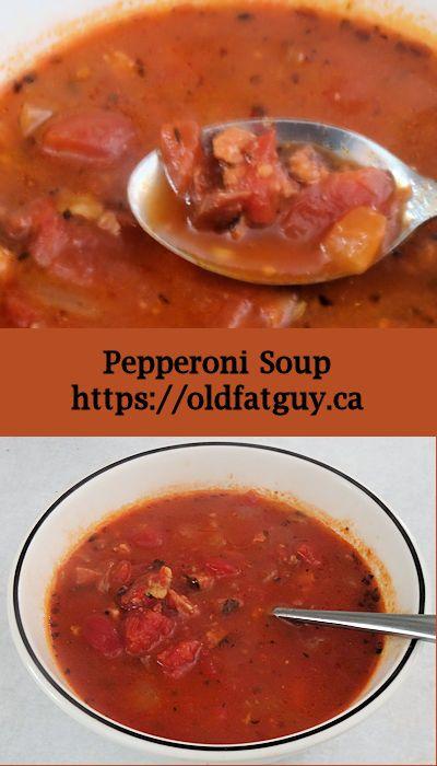 Don't make plain tomato soup. Make Pepperoni Soup! #soup #tomatosoup #pepperoni #comfortfood