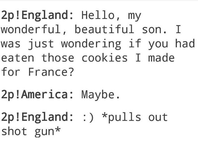 How could U.S. even have  eaten the food Britain made!?!?