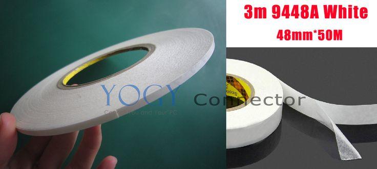 1x 48mm 3M 9448 White 2 Sides Stircky Tape for Cell phone LCD Panel Case Bond, Bumper Strip Foam PVC Joint