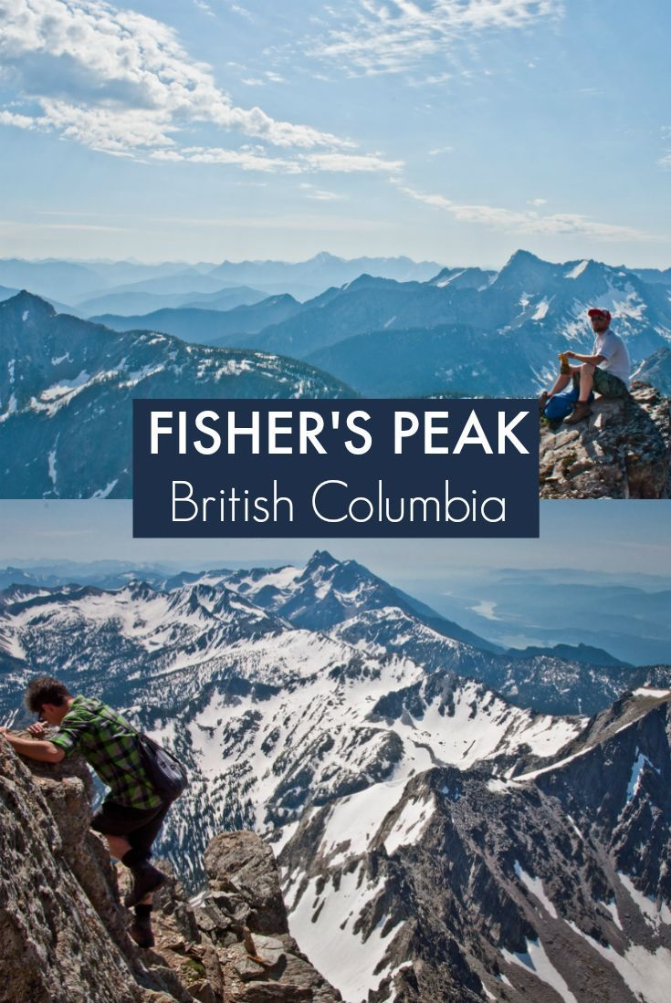 Hiking Fisher's Peak near Cranbrook, British Columbia. A challenging day hike with spectacular views of the Canadian Rockies.: