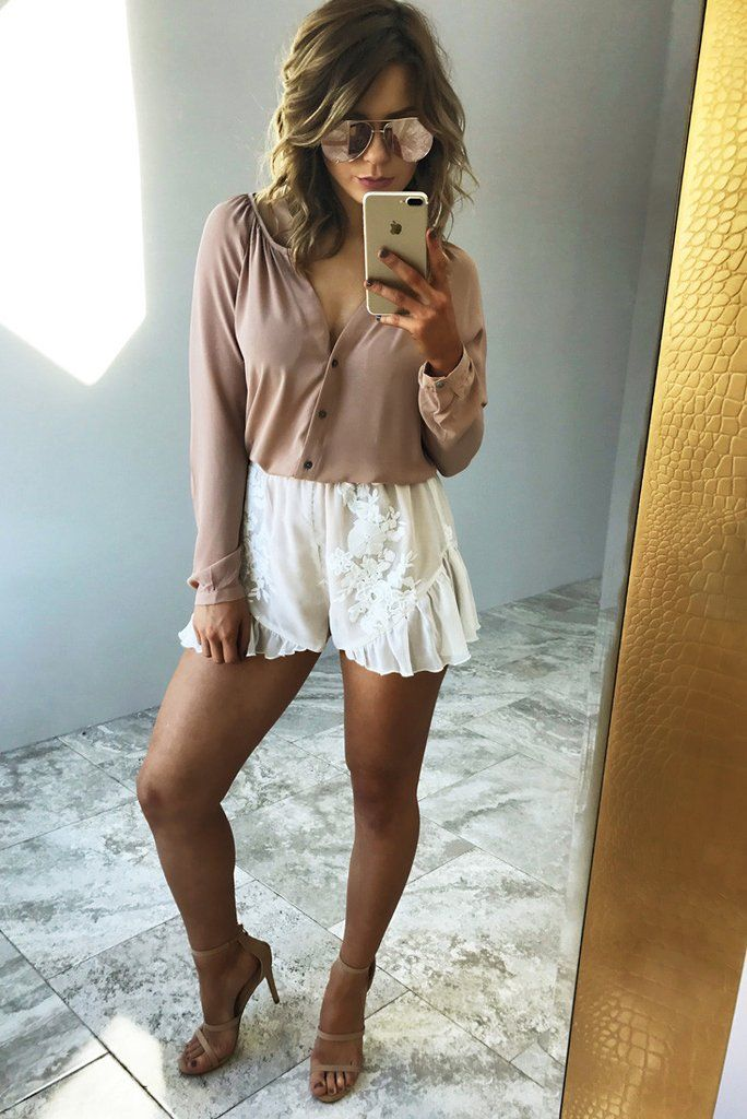 Fine Being Yours Blouse: Nude