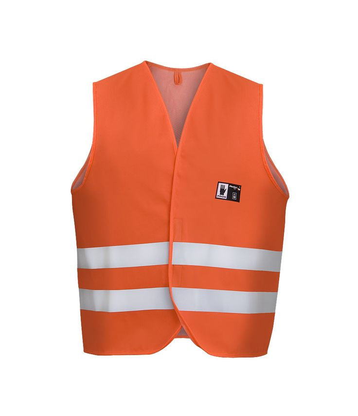 WATERPROOF WARNING VEST Model: 405 The vest is fastened by velcro at front. Reflective tapes on vest make workers more visible. The model is made on waterproof fabric Plavitex Fluo and it has been designed to be used at unfavorable weather conditions where visibility is limited. Thanks to double welded high frequency seams the product protects against rain and wind. The vest conforms to EN ISO 13688 and EN 343.