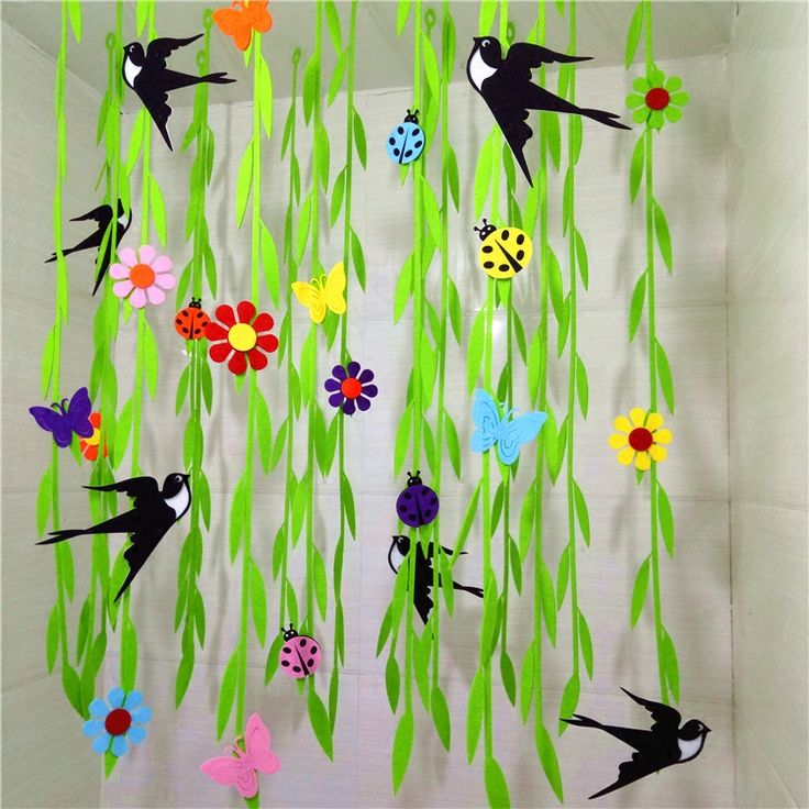 Spring into summer. A vibrant display for the classroom.