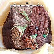 Валяная сумка #сумкаваляная #фелтинг #felting #rкоричневый #валяниеизшерсти