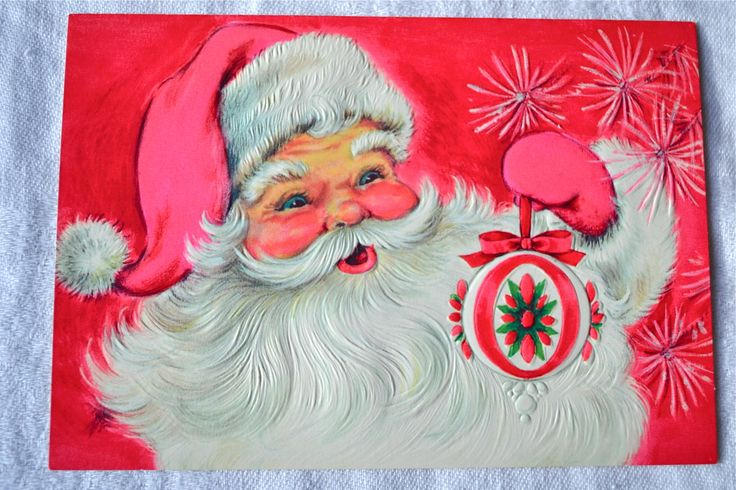 1000 images about mod santa christmas cards on pinterest for Santa cards pinterest