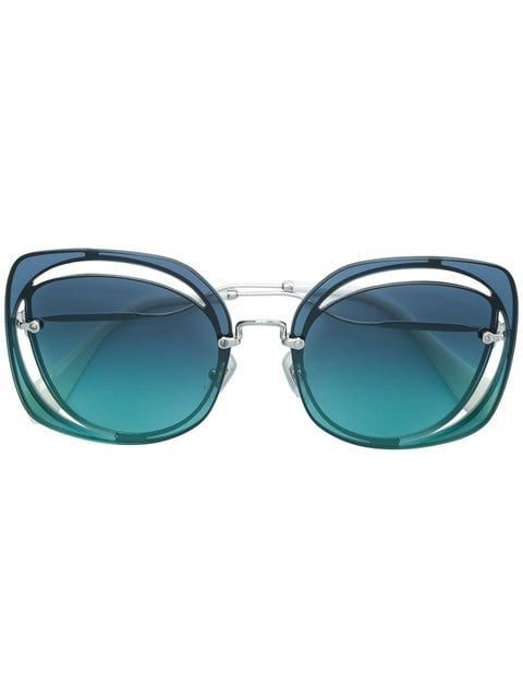 4cdd955c20f0 Shop Miu Miu Eyewear oversized sunglasses Oversized Sunglasses