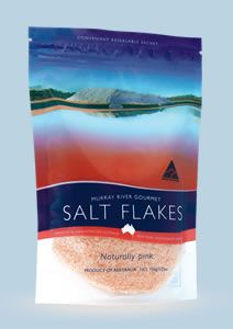"""""""Murray River Gourmet Pink Salt Flakes are produced from ancient saline waters sourced from underground aquifers found in Australia's Murray Darling basin region."""""""