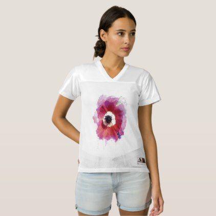 Poppy Custom Women's Football Jersey #1  $32.70  by Efroni_Bird  - cyo customize personalize diy idea