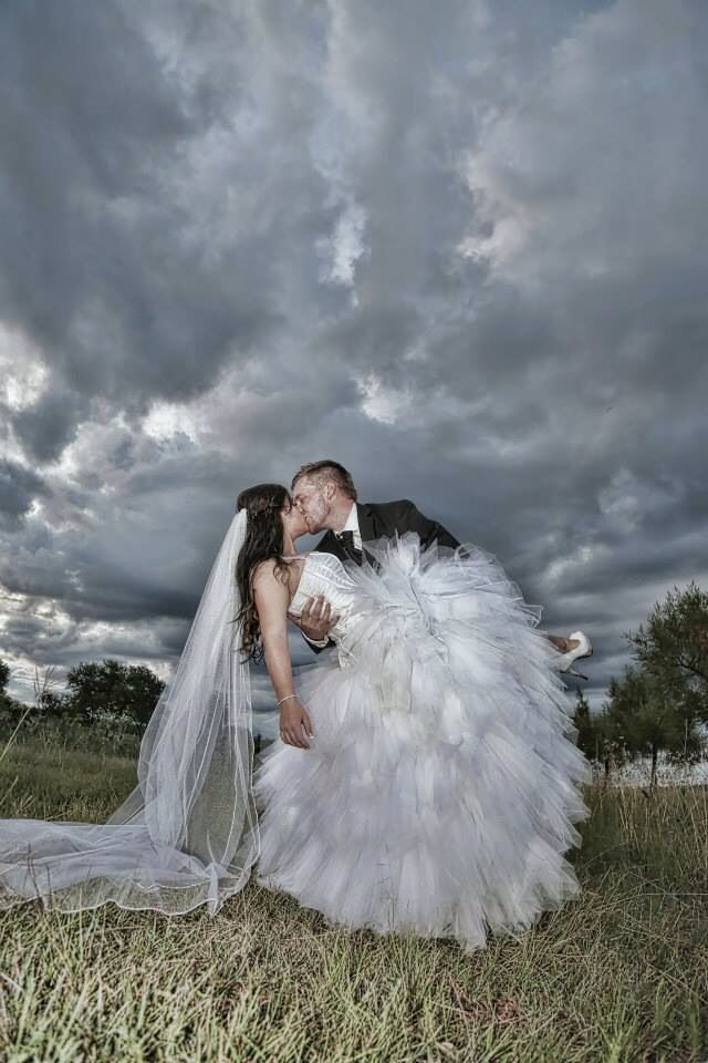 Cloudy wedding day photo