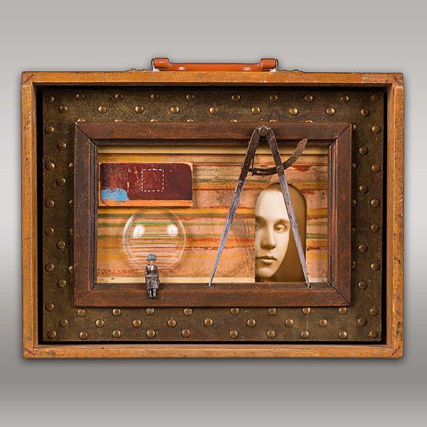 JEROME D'ANGELO - WORK#wonderwhatshethought#box#art#assemblage#collage#inbetweenthelines#construction#mixedmedia