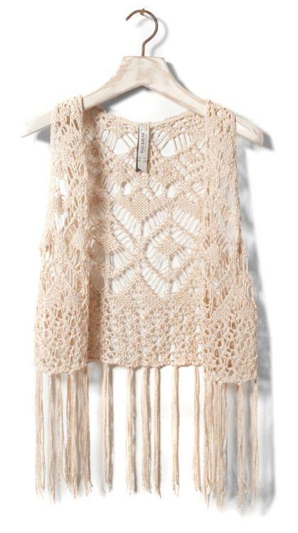 Crocheted vest.