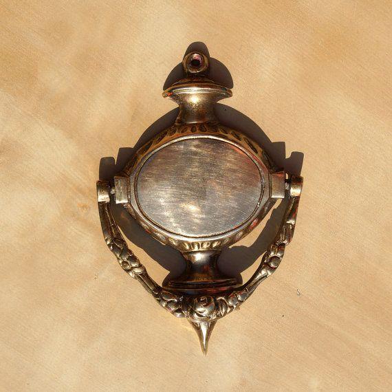 vintage brass door knocker by ukamobile on etsy