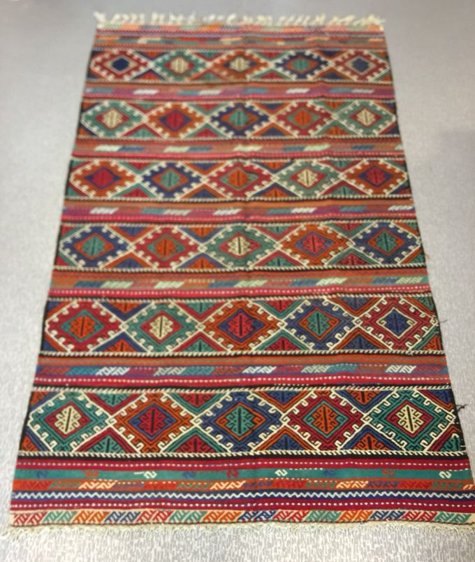 "UNIQUE TURKISH KILIM RUNNER, 294 x 175 cm ( 115 "" x 68 "" )"