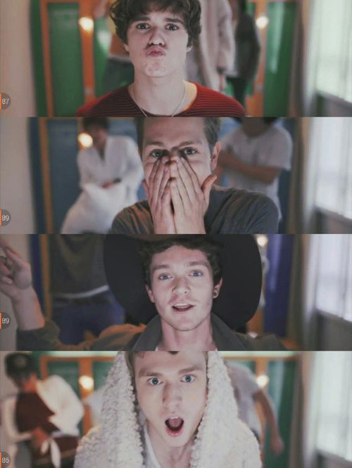 """The Vamps and it looks like they are   on the set of their video """"Cheater"""".... it's a good song☺"""