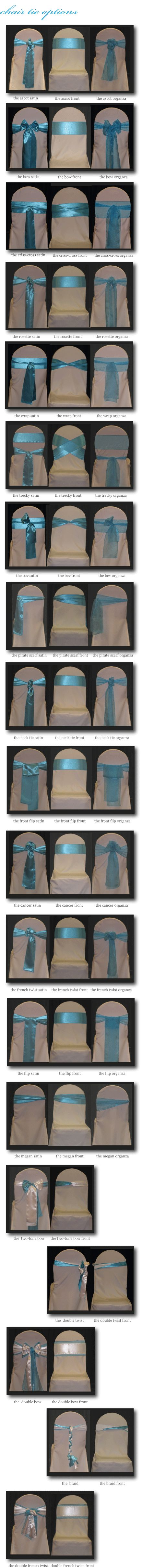 Chair Covers Omaha - CHAIR TIE OPTIONS