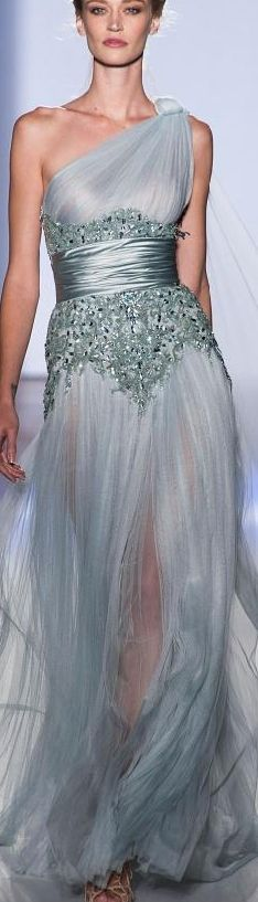 Zuhair Murad Spring 2013 Couture (beautiful, just too see through for my liking.)