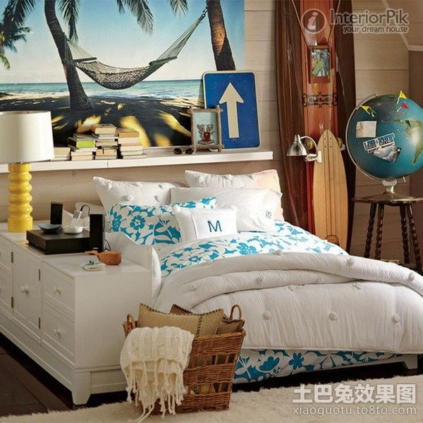 2017 Small Apartment Hawaiian Bedroom Wall Decor European Style