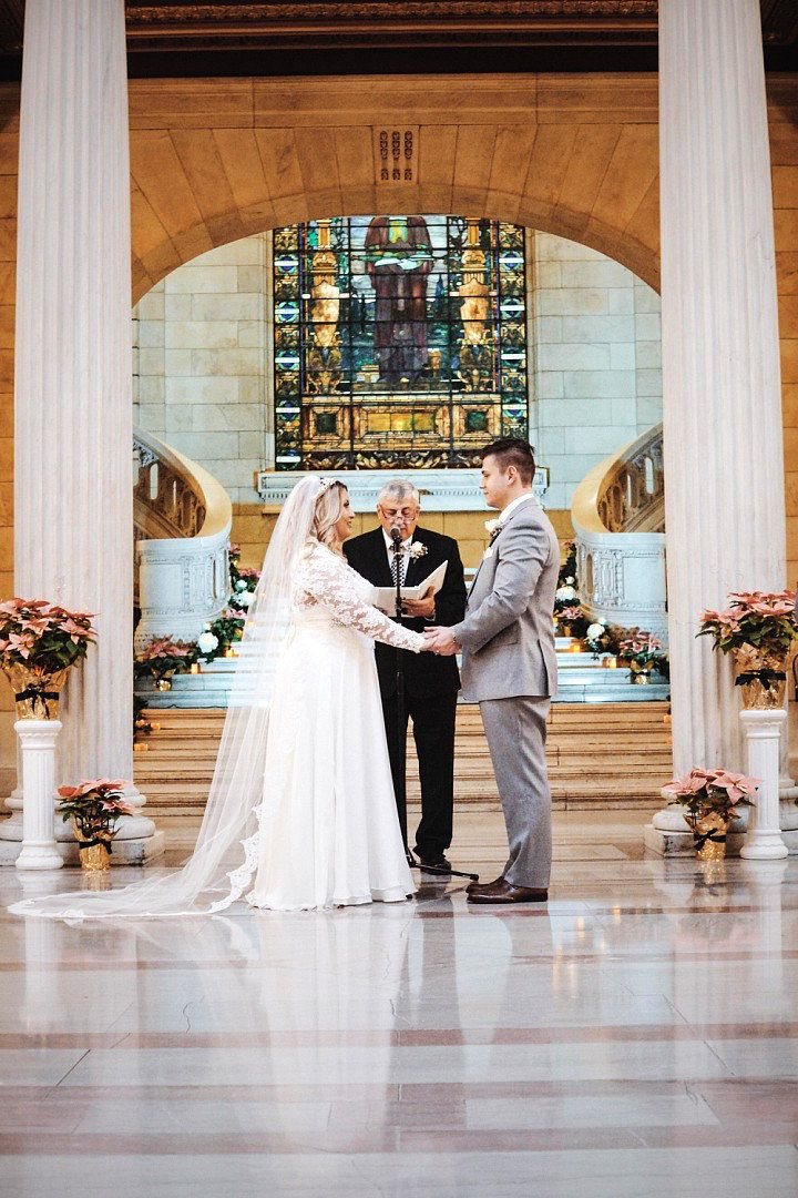Old Cleveland Courthouse wedding, gown from Something White, A Bridal Boutique in Independence, Ohio | Boutique Bridal Book CLE