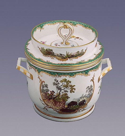 18th-century ice cream bucket. Click to read article about history of ice cream