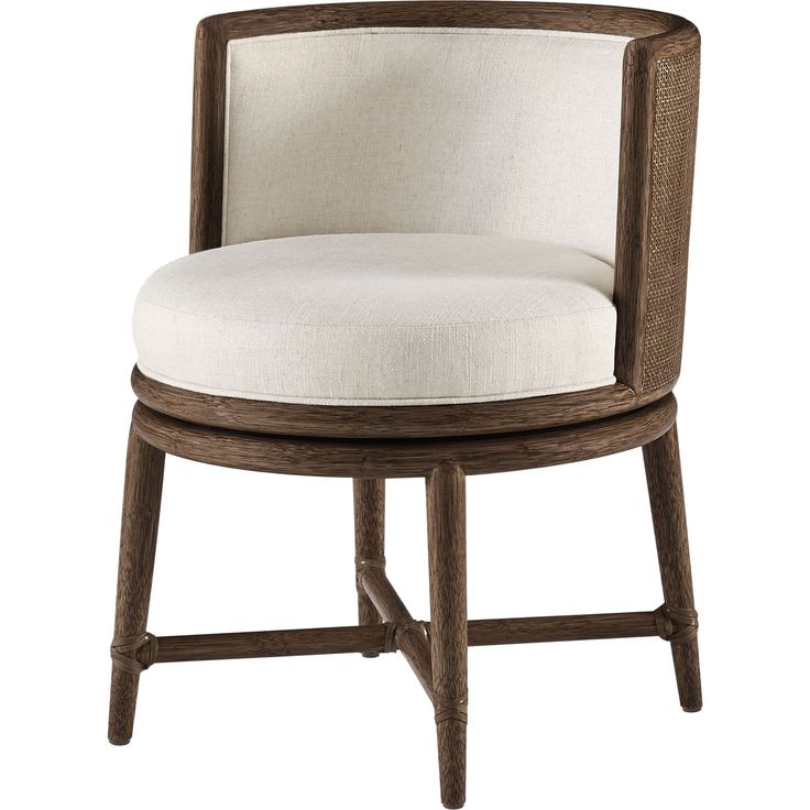 Barbara Barry Canyon Swivel Dining Chair By Mcguire Furniture Quick Ship Designer From