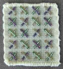 Bead embroidery tutorial. Tutorial de bordado con abalorios o bolitas