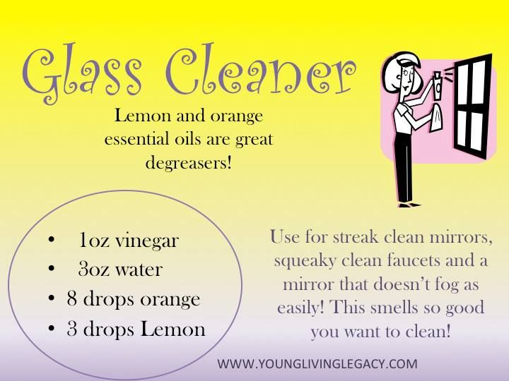 Young Living Essential Oils: Glass Cleaner  Visit www.thelivingdrop.com for more oil tips for your family!