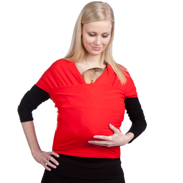 Liliputi® Strechy Wrap - Classic line - Red Carmin Babywearing & More! #liliputi #babycarrier #babywearing #wrap