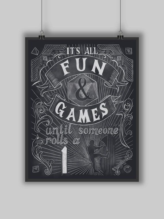 Fun and Games  Print  Digital Typography Dungeons and
