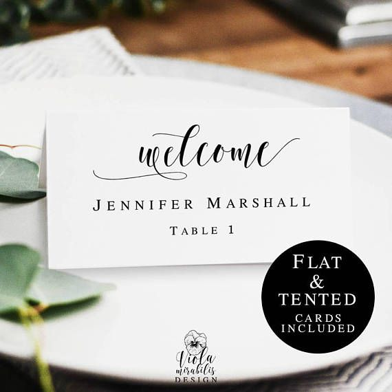 Boho Name Cards Template Printable Wedding Place Cards Table With