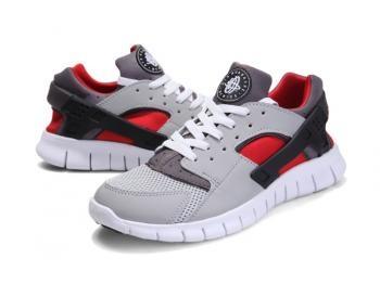 Cheap Nike Huarache Free Mens Run Trainers Size UK 11 LE Grey / Red Sale UK -Nike Huarache Free