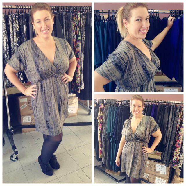 "Jo from Icurvy in our ""jungle love wrap front dress"" http://icurvy.wordpress.com/2013/07/10/harlow-salon-saturday/ 20130709-201824.jpg"