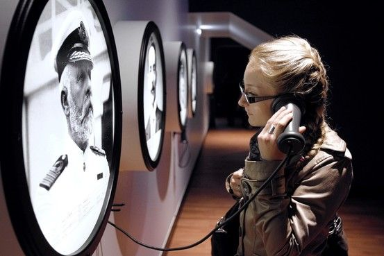An interesting way to think of Storytelling.  Handset and portal appropriate for Titanic context, but maybe play on Call Box idea for Old Beat Cop stories?