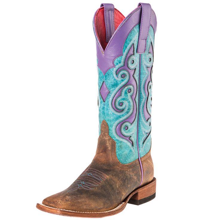 Women's Macie Bean Turquoise Sinsation Cowgirl Boots Item # M9076