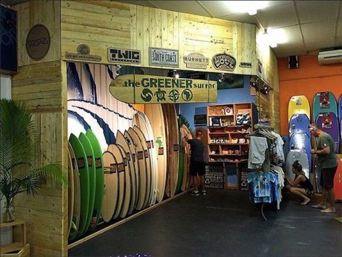 The Greener Surfer concept store.
