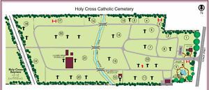 Holy Cross Cemetery plot for sale
