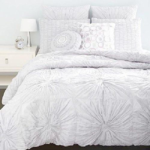 SKY Circlet White 230T Cotton Twin Duvet Cover  Sham Set *** To view further for this item, visit the image link from Amazon.com