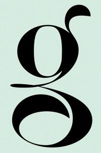 typography design g letter