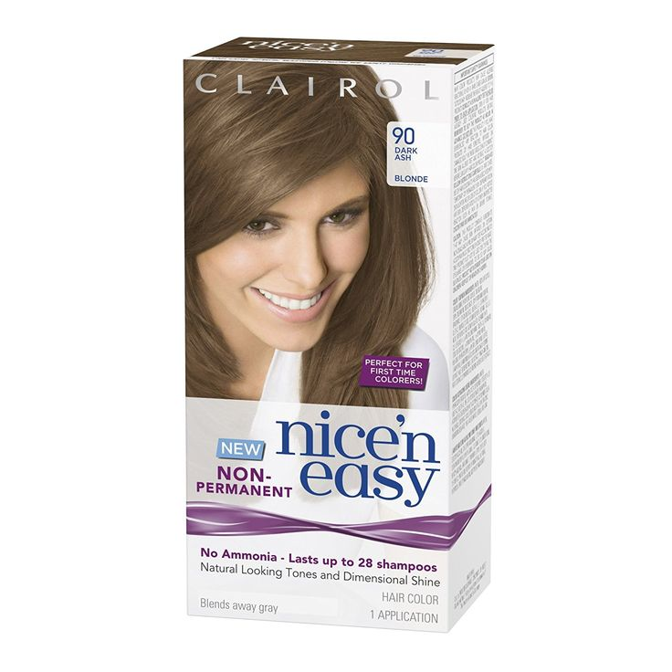 Clairol Nice 'N Easy Non-Permanent Hair Color 90 Dark Ash Blonde 1 Kit ** Check out this great article. #haircare