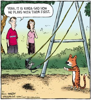 cat and mouse - Speed Bump comic strip by Dave Coverly, August 01, 2014 on GoComics.com