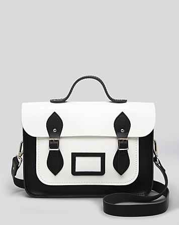 Work the monochrome trend with our Black and White designer satchel- avilable at Bloomingdales!