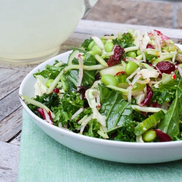 Sesame Kale Salad Recipe — Dishmaps